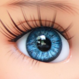 OVAL REAL BABY BLUE 10 mm GLASS EYES FOR DOLL BJD LATI YELLOW MY MEADOWS GIGI BAILEY PATTI ...