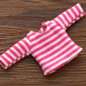 FUSHIA PINK AND WHITE TEE SHIRT OUTFIT FOR OB11 STODOLL LATI WHITE SP PUKIPUKI OBITSU 11 CM DOLLS