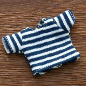 BLUE AND WHITE TEE SHIRT OUTFIT FOR OB11 STODOLL LATI WHITE SP PUKIPUKI OBITSU 11 CM DOLLS