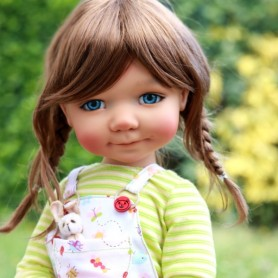 "BIG BAILEY TAN RESIN BJD DOLL 18"" MEADOWDOLLS"