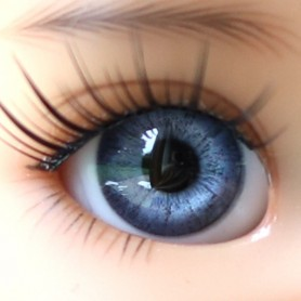 YEUX EN VERRE OVAL REAL BLEU UTRAMARINE 14 mm GLASS EYES POUPÉE BJD IPLEHOUSE REBORN DOLL ...
