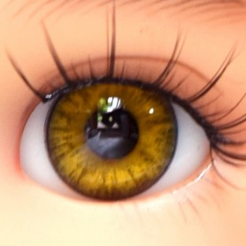 YEUX EN VERRE OVAL REAL HAZEL 14 mm GLASS EYES POUPÉE BJD IPLEHOUSE REBORN ....