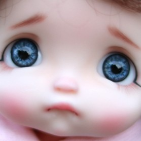 OVAL REAL CRISTAL BLUE 10 mm GLASS EYES FOR BJD STODOLL OB11 PUKIFEE BJD DOLL REBORN DOLLS...