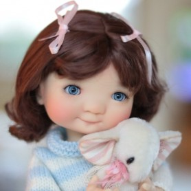 PENNY CHESTNUT BROWN 7/8 WIG FOR BJD DOLLS EFFNER LITTLE DARLING NIKKI BRITT DOLLS DOLLFIE MSD KAYE WIGGS...