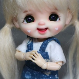 STODOLL BABY DOLL LAUGH HEARTS AND EYELASHES DOLL OB11 SIZE LATI WHITE SP DDF