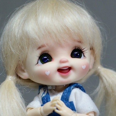 STODOLL BABY DOLL LAUGH HEARTS ORIGINAL EXCLUSIVE DOLL WITH A YMY OR DDF BODY OB11 AMYDOLL SIZE