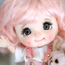 POUPEE STODOLL BEBE DIMPLES FAUSSETTES + CILS TAILLE OB11 CORPS YMY