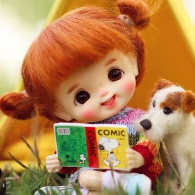 POUPEE STODOLL BEBE SOURIRE LAUGH FRECKLES DOLL OB11 CORPS YMY
