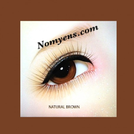 NOMYENS EYELASHES NATURAL BROWN FOR BJD DOLL BJD BALL JOINTED DOLL LATI YELLOW PUKIFEE YOSD LITTLEFEE MINIFEE SD...