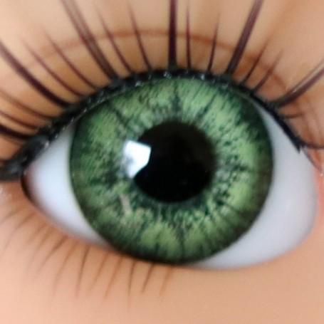 OVAL REAL OLIVE GREEN 10 mm GLASS EYES BJD DOLL LATI YELLOW STODOLL PUKIFEE MEADOWDOLLS