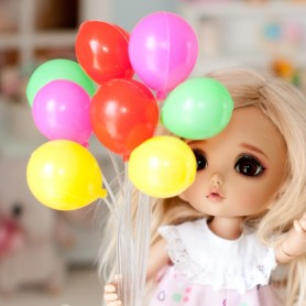 LOVELY ROUND BALLON FOR YOUR BJD DOLL LATI YELLOW PUKIFEE BLYTHE BARBIE PULLIP