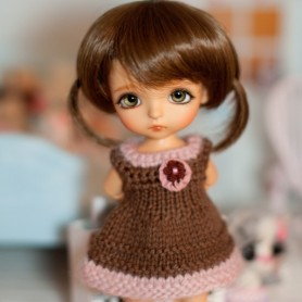 """SWEET HEART DRESS OUTFIT FOR BJD LATI YELLOW PUKIFEE AND OTHER 6"""" DOLLS"""