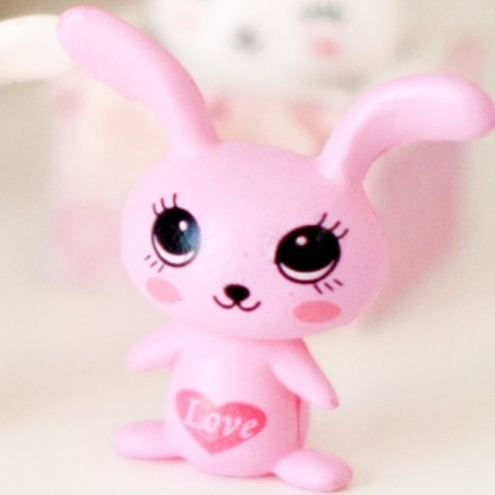 PETIT LAPIN LOVE DECO MINIATURE LATI YELLOW PUKIFEE BJD BARBIE BLYTHE PULLIP DOLLHOUSE