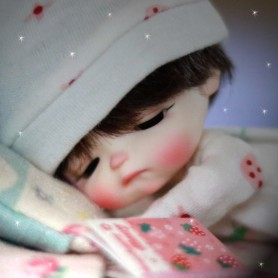 RESIN DOLL SLEEPY EGGY HEAD WITH MAKE UP FROM STODOLL SWEET BABY BJD DOLL