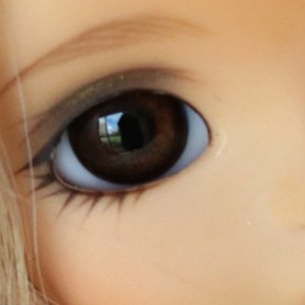 YEUX EN VERRE OVAL REAL BROWNIE 6 mm GLASS EYES POUR POUPÉE BJD BALL JOINTED DOLL LATI WHITE ...