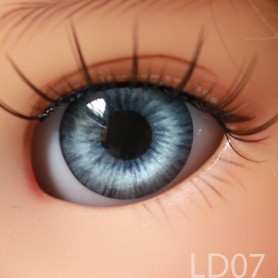 YEUX GLIB BLEUS BLUE DREAM LD07 REALISTIC EYES POUPÉE BJD BALL JOINTED DOLL LATI YELLOW IPLEHOUSE 14 mm