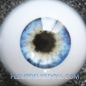 YEUX GLIB REAL BLUE REALISTIC EYES POUPÉE BJD BALL JOINTED DOLL LATI YELLOW PUKIFEE 12 mm