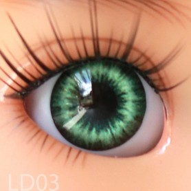 YEUX GLIB VERT FOREST GREEN REALISTIC EYES POUPÉE BJD BALL JOINTED DOLL IPLEHOUSE 14 mm
