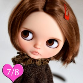 PERRUQUE WIG ALEX REDDISH BROWN 7/8 POUR POUPÉE  BJD DOLLS EFFNER LITTLE DARLING NIKKI BRITT DOLLS DOLLFIE MSD KAYE WIGGS...