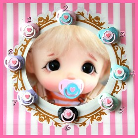 MINIATURE TINY BEAR DUMMY PACIFIER MINIATURE STODOLL OB11 PUKIFEE BJD LATI YELLOW