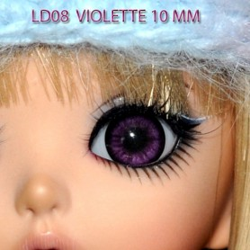 YEUX GLIB VIOLET 6 MM RÉALISTES EYES POUR POUPÉE BJD BALL JOINTED DOLL LATI WHITE PUKIPUKI  IPLEHOUSE DOLLS