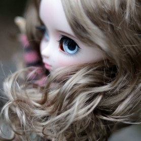 PERRUQUE WIG CIARA GINGER BROWN 8/9 POUR BJD PULLIP CUSTOM MEADOWDOLLS KAYE WIGGS WICHTEL DAL LUTS MIDDIE BLYTHE