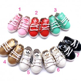 CHAUSSURES TENNIS SNEAKERS ADIDAS MINIATURE POUR POUPÉE BJD OB11 STODOLL AMY DOLL LATI WHITE SP PUKIPUKI OBITSU 11 DOLLS