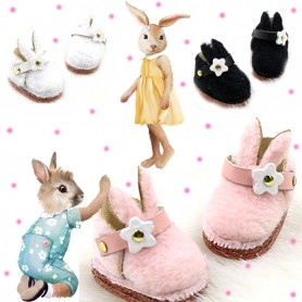 PINK BUNNY SHOES FOR OB11 STODOLL LATI WHITE SP PUKIPUKI OBITSU 11 CM DOLLS
