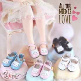 HELLO KITTY DOLL SHOES FOR BJD DOLLS OB11 AMY DOLL STODOLL LATI WHITE SP PUKIPUKI OBITSU 11 DOLLS