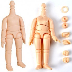 OBITSU BODY FULLY ARTICULATED FOR STODOLL OB11 DOLL HEADS