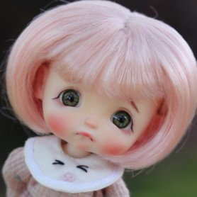 LIGHT PINK BOB DOLL WIG FOR CUSTOM BJD STODOLL OB11 LATI YELLOW PUKIFEE DOLL 5/6