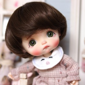 BROWNIE BOB DOLL WIG FOR CUSTOM BJD STODOLL OB11 LATI YELLOW PUKIFEE DOLL 5/6
