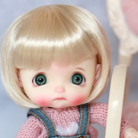 MOHAIR BOB DOLL WIG FOR CUSTOM BJD STODOLL OB11 LATI YELLOW PUKIFEE DOLL 5/6