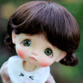 BOB BROWN MACARONS DOLL WIG FOR CUSTOM BJD STODOLL OB11 LATI YELLOW PUKIFEE DOLL 5/6