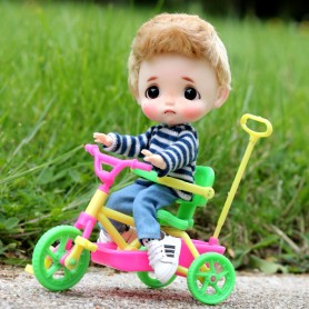 MINIATURE TRICYCLE BIKE BJD BABY DOLL STODOLL OB11 LATI WITHE SP DIORAMA DOLLHOUSE