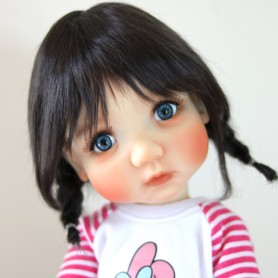 MONIQUE TESSIE DARK BROWN WIG 10-11 EXCLUSIVE  BLYTHE MEADOWDOLLS ADRYN MAE DOLLS