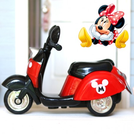 DOLL RED MINNIE MICKEY AUTOBIKE SCOOTER 1/12 BJD STODOLL OB11 LATI WHITE SP REALPUKI OBITSU 11