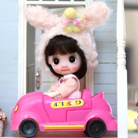KIDS PINK CAR 1/12 BJD STODOLL OB11 LATI WHITE SP REALPUKI OBITSU 11