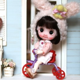 MINIATURE TRICYCLE BIKE BJD BABY DOLL STODOLL OB11 LATI WITHE SP DIORAMA DOLLHOUSE