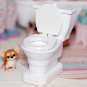 MINIATURE WATER CLOSET WC BJD DOLL STODOLL OB11 LATI WITHE SP LATI YELLOW PUKIFEE PUKIPUKI DIORAMA DOLLHOUSE FURNITURE