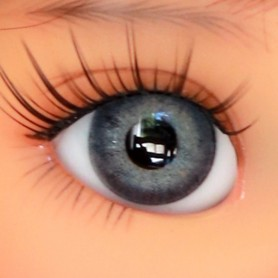 OVAL REAL MOUSE GREY EYES 16 mm GLASS EYES FOR BJD DOLL REBORN DOLL IPLEHOUSE MEADOWDOLLS MAE ADRYN