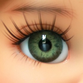 OVAL REAL FROG GREEN EYES 16 mm GLASS EYES FOR BJD DOLL REBORN DOLL IPLEHOUSE MEADOWDOLLS MAE ADRYN