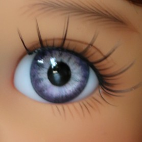 OVAL REAL LAVANDE EYES 16 mm GLASS EYES FOR BJD DOLL REBORN DOLL IPLEHOUSE MEADOWDOLLS MAE ADRYN