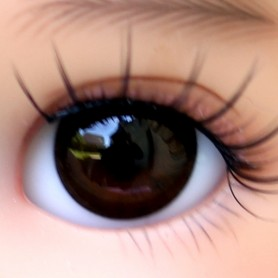 OVAL REAL BROWN BLACK 16 mm GLASS EYES FOR BJD DOLL REBORN DOLL IPLEHOUSE MEADOWDOLLS MAE ADRYN