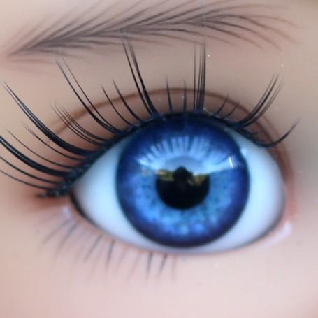 YEUX EN VERRE OVAL REAL BLUE COBALT 16 mm GLASS EYES POUR POUPÉE BJD REBORN DOLL IPLEHOUSE MEADOWDOLLS MAE ADRYN