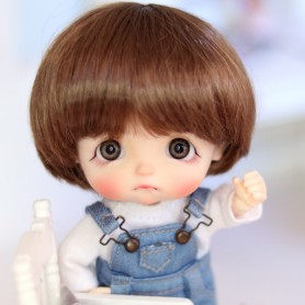 CARAMEL BOB DOLL WIG FOR CUSTOM BJD STODOLL OB11 LATI YELLOW PUKIFEE DOLL 5/6