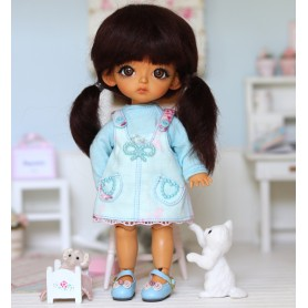 ARTIST OUTFIT DRESS AND TEE FOR BJD LATI YELLOW PUKIFEE MEADOWDOLLS TWINKLE ...