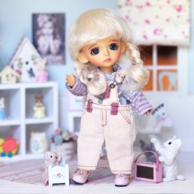 ARTIST OUTFIT OVERALL AND TEE FOR BJD LATI YELLOW PUKIFEE MEADOWDOLLS TWINKLE ...