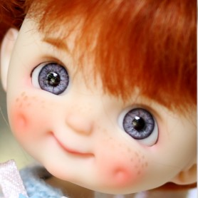 STODOLL BABY DOLL DIMPLES FRECKLES ORIGINAL EXCLUSIVE DOLL WITH A YMY OR DDF BODY OB11 AMYDOLL SIZE