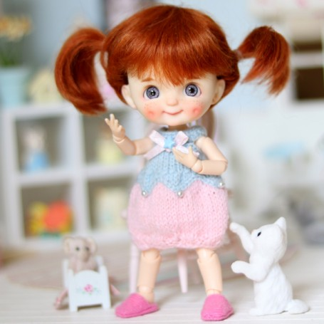 LOVELY SWEET DRESS FOR BJD DOLL STODOLL OB11 AMYDOLL LATI WHITE SP PUKIPUKI AND OTHER SMALL BJD DOLLS